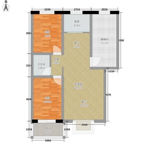 五里华都2室0厅1卫1厨83.72㎡户型图