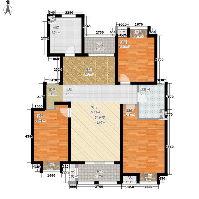 天津海航城122.00㎡一期花园洋房标准层D户型