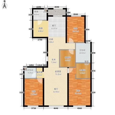 中粮祥云国际生活区3室0厅2卫1厨189.00㎡户型图