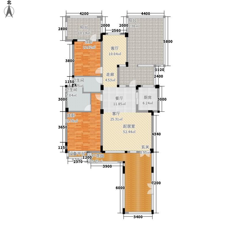富豪新岸145.95㎡二期E23面积14595m户型