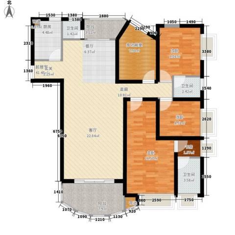 皇冠自由城4室0厅3卫1厨131.00㎡户型图