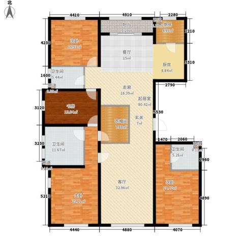 中粮祥云国际生活区4室0厅3卫1厨223.00㎡户型图