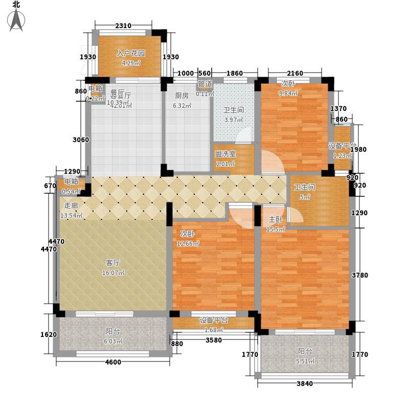 国信世家•璞园洋房K5户型3室2厅