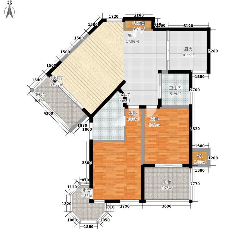 尚海湾豪庭134.00㎡户型
