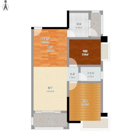 精英世家1室1厅1卫1厨87.00㎡户型图
