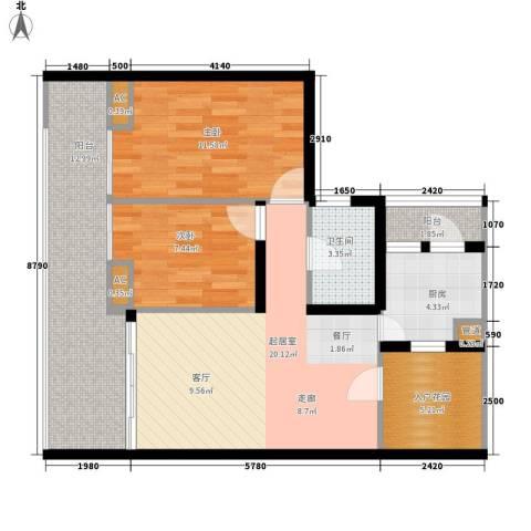 元邦明月园2室0厅1卫1厨89.00㎡户型图