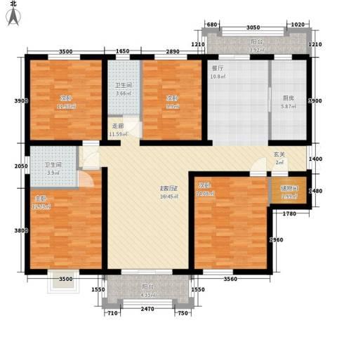 檀香湾4室0厅2卫1厨163.00㎡户型图