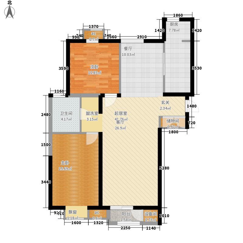 新奥蓝城113.43㎡新奥蓝城 S户型 2室2厅1卫113.43平米户型2室2厅1卫