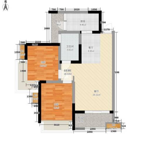 世豪广场2室0厅1卫1厨79.00㎡户型图
