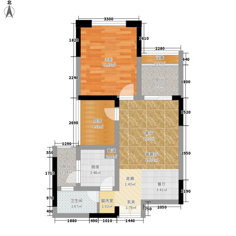 财信城市国际51.98㎡一期9号楼标面积5198m户型