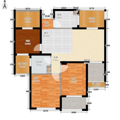 润达锦秀河山3室0厅1卫1厨109.00㎡户型图
