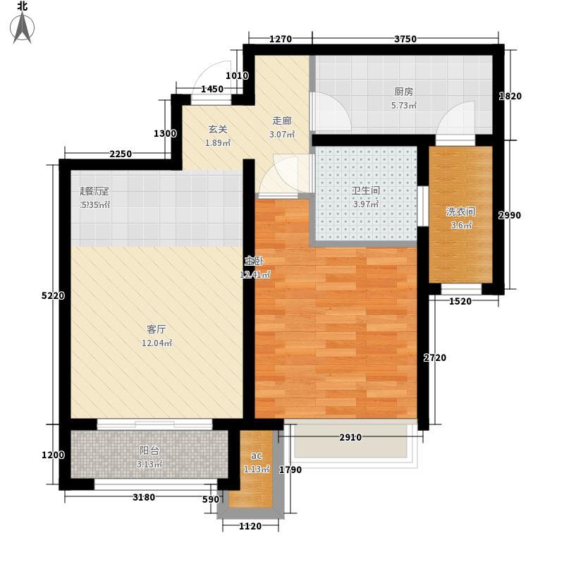 美克嘉美湾75.00㎡高层标准层A1户型
