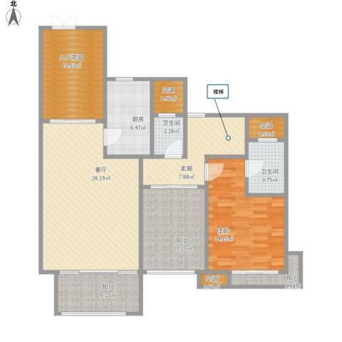 保利心语花园别墅1室1厅2卫1厨105.78㎡户型图