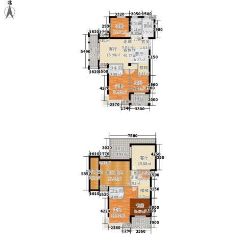 恒鑫文锦苑4室2厅3卫1厨213.53㎡户型图