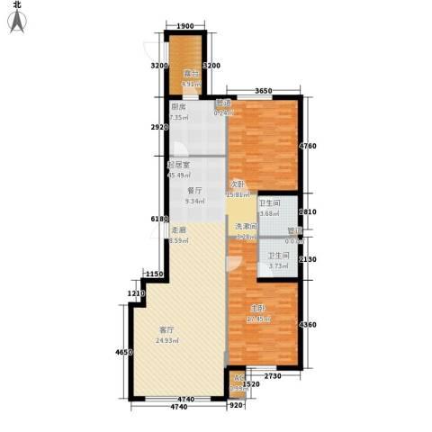 舒雅名苑2室0厅2卫1厨139.00㎡户型图