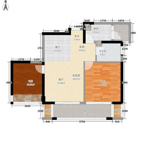 泰悦湾2室0厅1卫1厨90.00㎡户型图