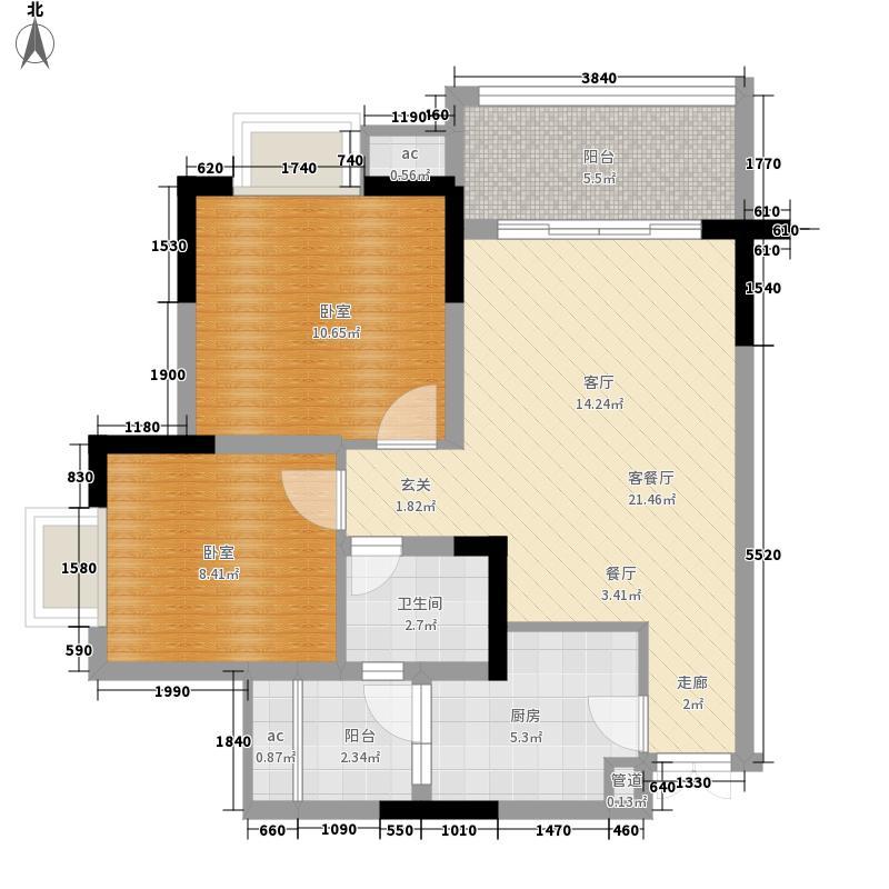 斌鑫西城绿锦62.66㎡13号楼6号房面积6266m户型