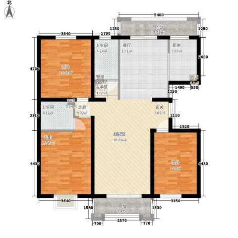 檀香湾3室0厅2卫1厨153.00㎡户型图