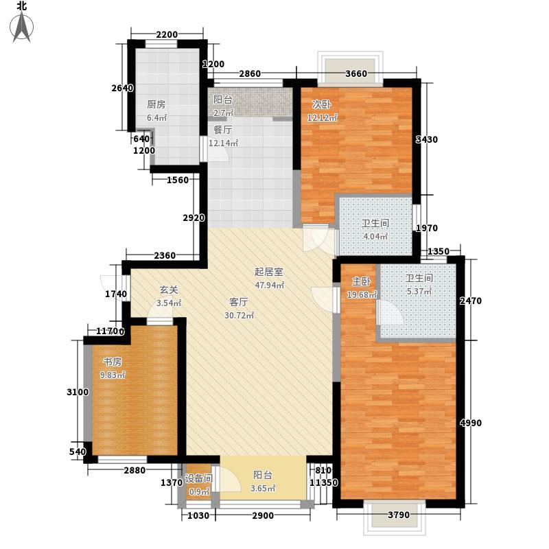 新奥蓝城143.01㎡新奥蓝城 D户型 2室2厅2卫143.01平米户型2室2厅2卫