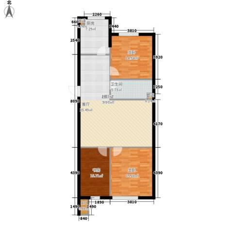 舒雅名苑3室0厅1卫1厨123.00㎡户型图