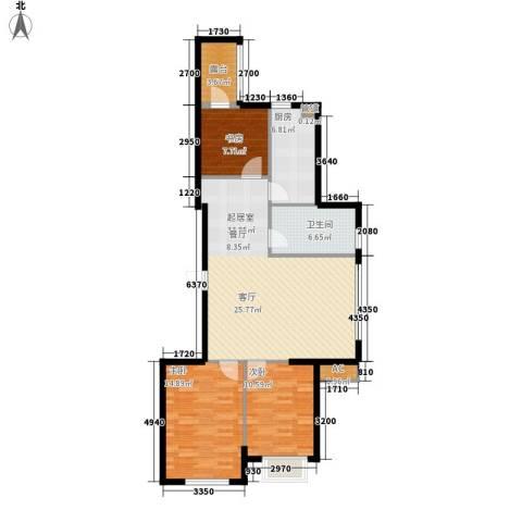舒雅名苑3室0厅1卫1厨119.00㎡户型图