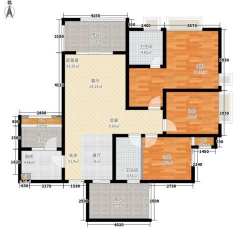阿特豪斯3室0厅2卫1厨119.84㎡户型图