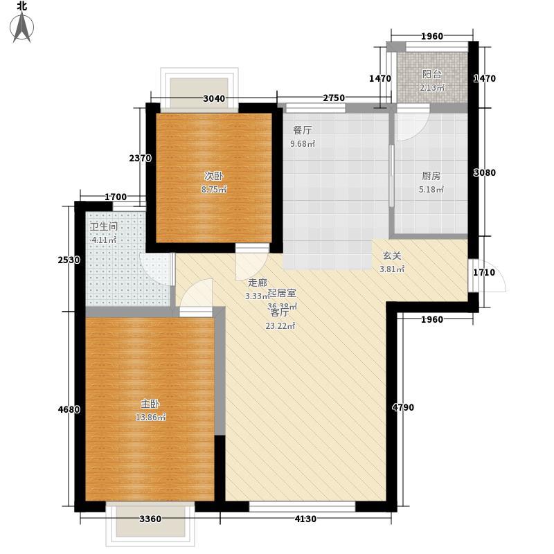 新奥蓝城100.53㎡新奥蓝城 B户型 2室2厅1卫100.53平米户型2室2厅1卫