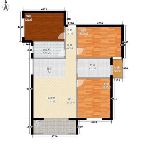 格兰小镇3室0厅1卫1厨129.00㎡户型图