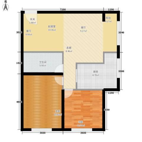格兰小镇2室0厅1卫1厨104.00㎡户型图