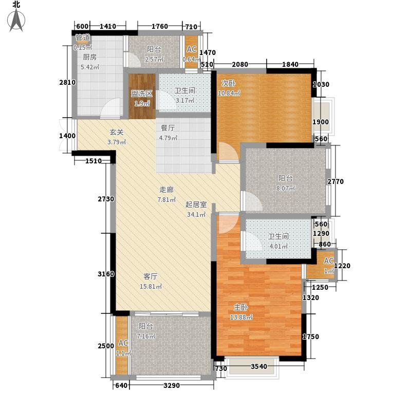 阿特豪斯93.25㎡三期1/2栋楼2/6面积9325m户型