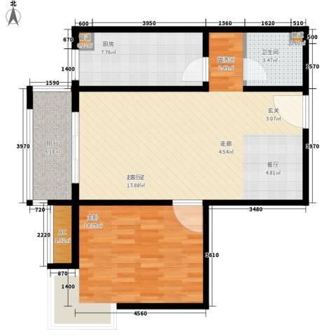 怡情雅居・相和园1室0厅1卫1厨72.00㎡户型图