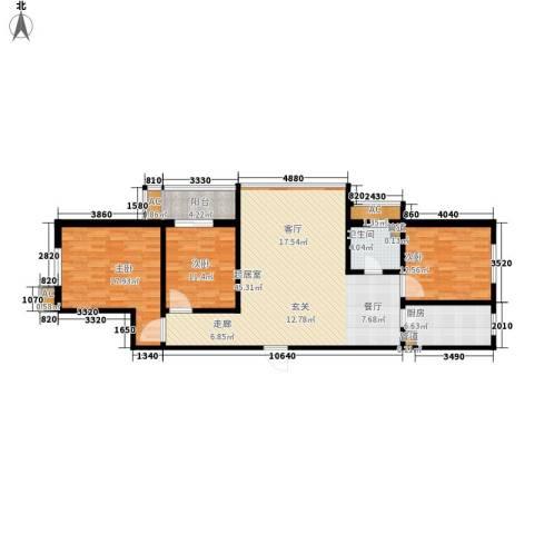 怡情雅居・相和园3室0厅1卫1厨116.00㎡户型图