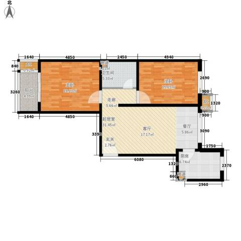 怡情雅居・相和园2室0厅1卫1厨92.00㎡户型图