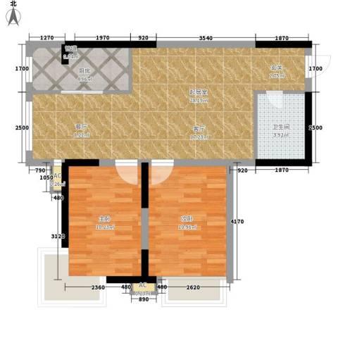 伴山名都2室0厅1卫1厨84.00㎡户型图