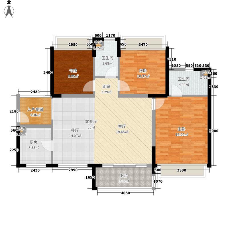 华发水岸112.00㎡户型3室2厅