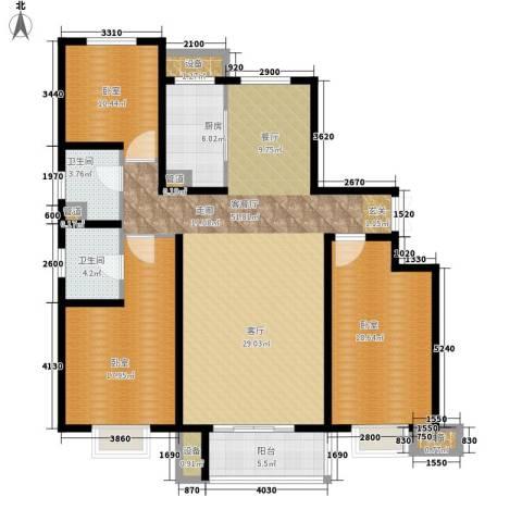 赵都新城1厅2卫1厨173.00㎡户型图