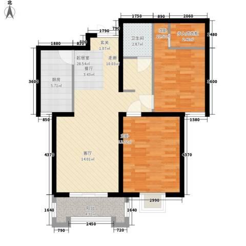 檀香湾2室0厅1卫1厨97.00㎡户型图