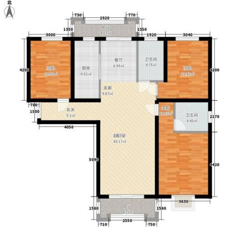 檀香湾3室0厅2卫1厨149.00㎡户型图
