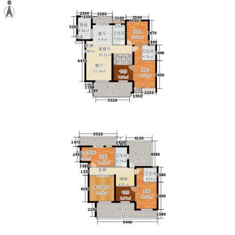 恒鑫文锦苑6室1厅4卫1厨232.00㎡户型图