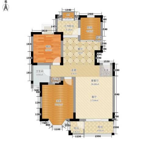 3511厂家属院2室1厅1卫1厨108.00㎡户型图