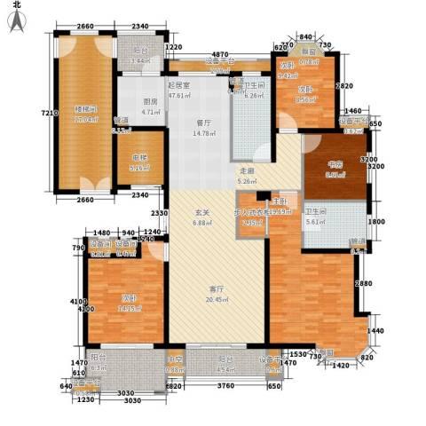 润达锦秀河山4室0厅2卫1厨186.00㎡户型图