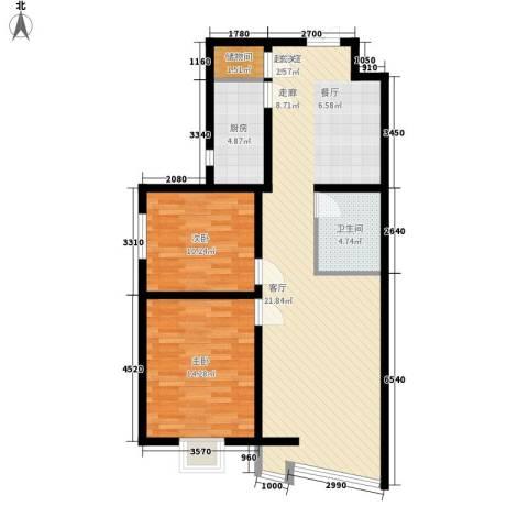 檀香湾2室0厅1卫1厨107.00㎡户型图