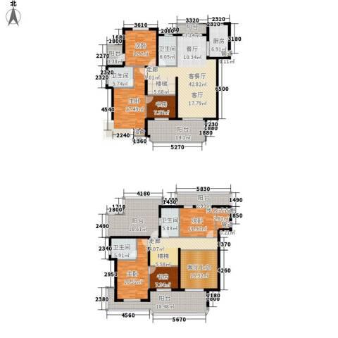 恒鑫文锦苑6室1厅4卫1厨245.50㎡户型图
