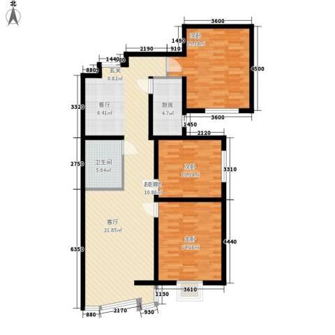 檀香湾3室0厅1卫1厨127.00㎡户型图