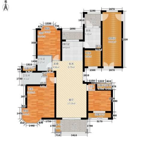 润达锦秀河山3室0厅2卫1厨142.00㎡户型图