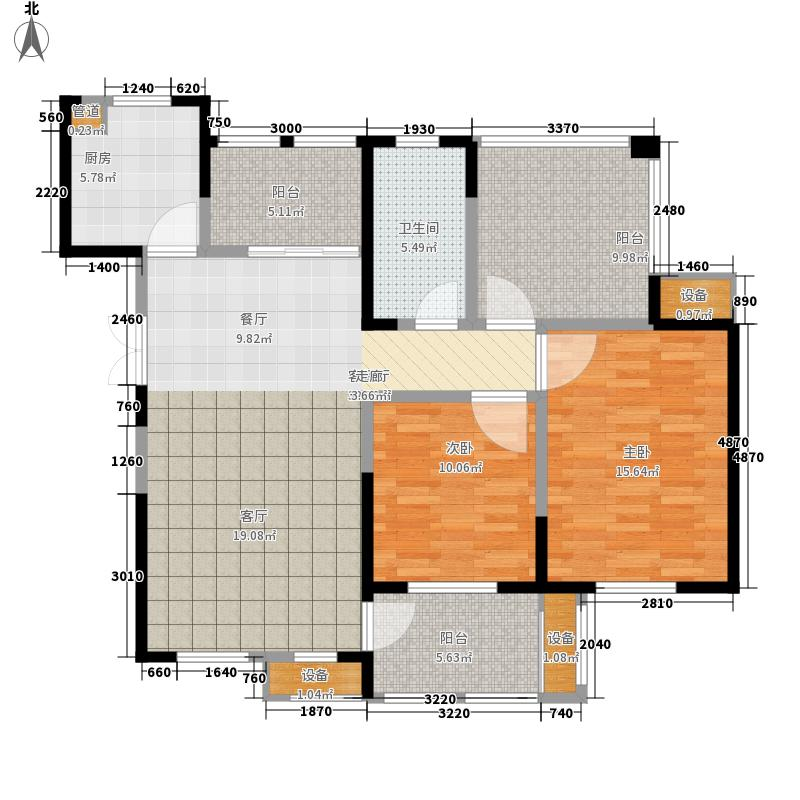 东方维罗纳106.00㎡南区高层46#G户型3室2厅