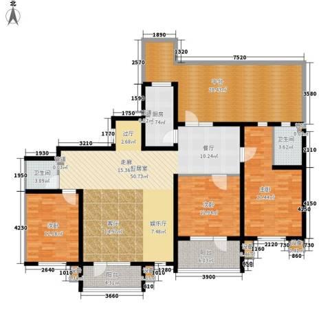 东方太阳城三期琴湖湾3室0厅2卫1厨166.00㎡户型图