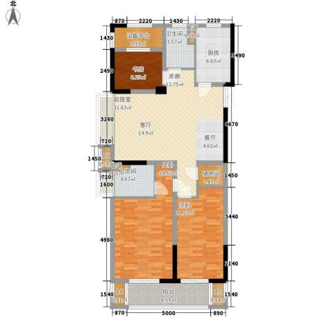 著明和谐家园3室0厅2卫1厨115.42㎡户型图