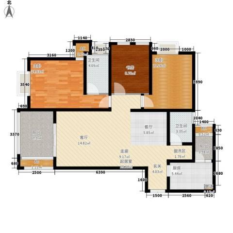 阿特豪斯3室0厅2卫1厨107.74㎡户型图