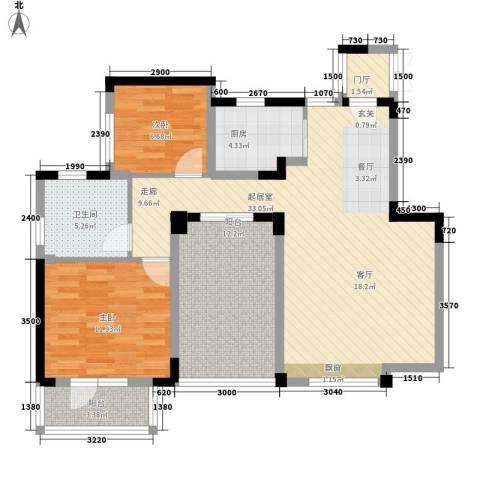 朗钜天域维尔蓝堤2室0厅1卫1厨113.00㎡户型图